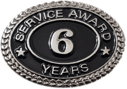 SILVER 6 YEARS SERVICE AWARD PIN