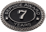 SILVER 7 YEARS SERVICE AWARD PIN