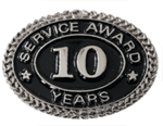 SILVER 10 YEARS SERVICE AWARD PIN