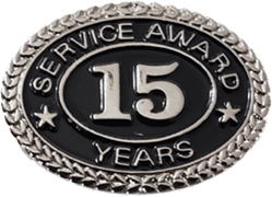 SILVER 15 YEARS SERVICE AWARD PIN