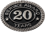 SILVER 20 YEARS SERVICE AWARD PIN