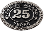 SILVER 25 YEARS SERVICE AWARD PIN