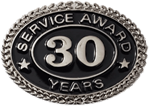 SILVER 30 YEARS SERVICE AWARD PIN