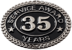 SILVER 35 YEARS SERVICE AWARD PIN
