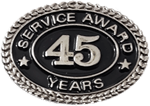 SILVER 45 YEARS SERVICE AWARD PIN