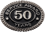 SILVER 50 YEARS SERVICE AWARD PIN