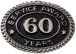 SILVER 60 YEARS SERVICE AWARD PIN