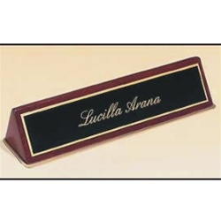 ROSE PIANO FINISH DESK PLATE 1 LINE