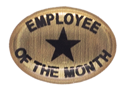 EMPLOYEE OF THE MONTH STICKER