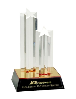 DOUBLE ACRYLIC STAR COLUMN AWARD