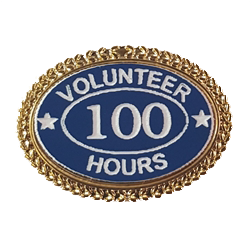 Volunteer Hours Lapel Pin Oval