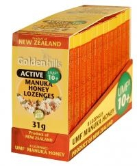 Golden Hills Manuka Honey Lozenges 10+ (x 8)