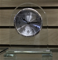 Glass Desk Clock w/ Plate