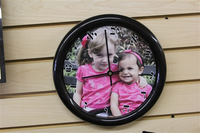 Clock with your beautiful ones in background