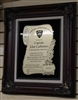 Framed Scroll Plaque