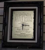 Framed Invitation w/ Clock