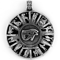 Egyptian Jewelry Eye of Horus Zodiac Pendant
