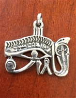 Eye of Horus Serpent Pendant