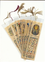 100 Assorted Egyptian Papyrus Bookmarks