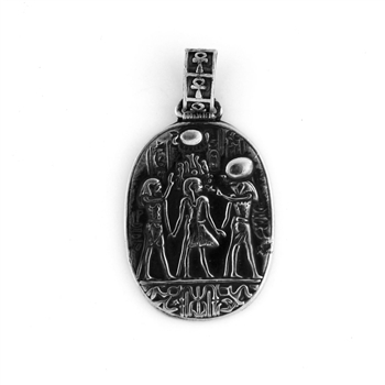 Crowning of King Tut Pendant - Small