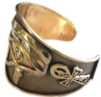 KemetArt Egyptian Bronze Bangle ( Eye of Horus & Ankh  )