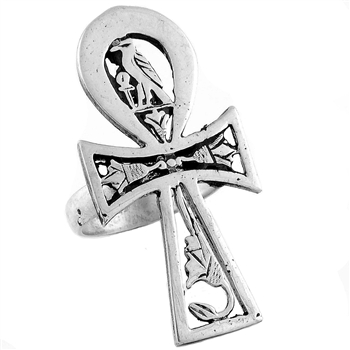 Horus Ankh Ring - Large