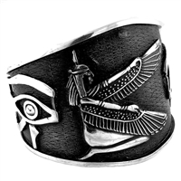 Winged Isis & Eye of Horus Bangle