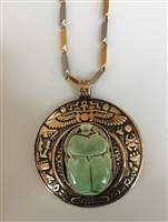 Scarab with Stainless Steel Chain