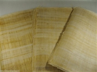 10 Blank Egyptian Papyrus Sheets for Art Projects 12x16in 30x40cm