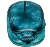 Glazed Stone Scarab (Medium, Turquoise)