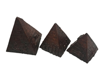 Three Egyptian Pyramids Stone Set (Brown) Large