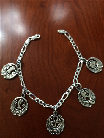 Egyptian Charm Bracelet ( 9 Inches )