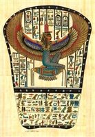Egyptian Hand-Made Papyrus Painting - Goddess Isis