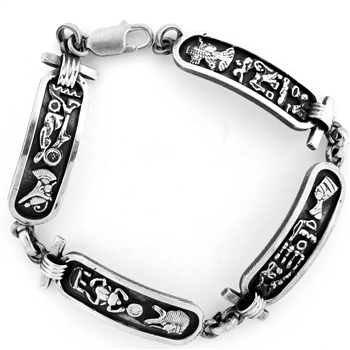 Egyptian King & Queen Cartouche Bracelet