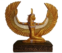 Winged Ma'at Stone Statue 10""