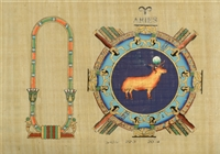 Aries Personalized Zodiac Papyrus