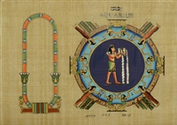 Aquarius Personalized Zodiac Papyrus