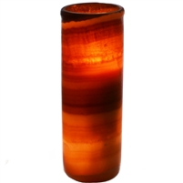 Alabaster Cylindrical Candle Holder 11.5""