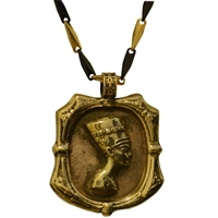 Bronze Queen Nefertiti Pendant | Egyptian Jewelry