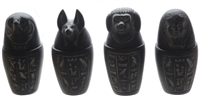 Minature Canopic Jar Set with Box