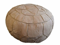 Egyptian Morrocan Handmade Genuine Leather Ottoman Pouf XL ( Empty )
