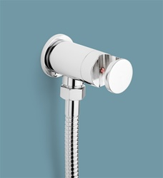 Hand Bidet Holder with on/off valve (chrome metal) , Model HBHO1