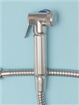 Sanicare Italia Hand Held Bidet Chrome - Model IT500C (Complete Set) -with FREE Inline Control Valve ($19.95 value!)