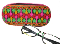 Soft-sided embroidered eyeglass case.  A Fair Trade Item.