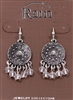 Rain Jewelry fringed medallion earrings 1-1/2""