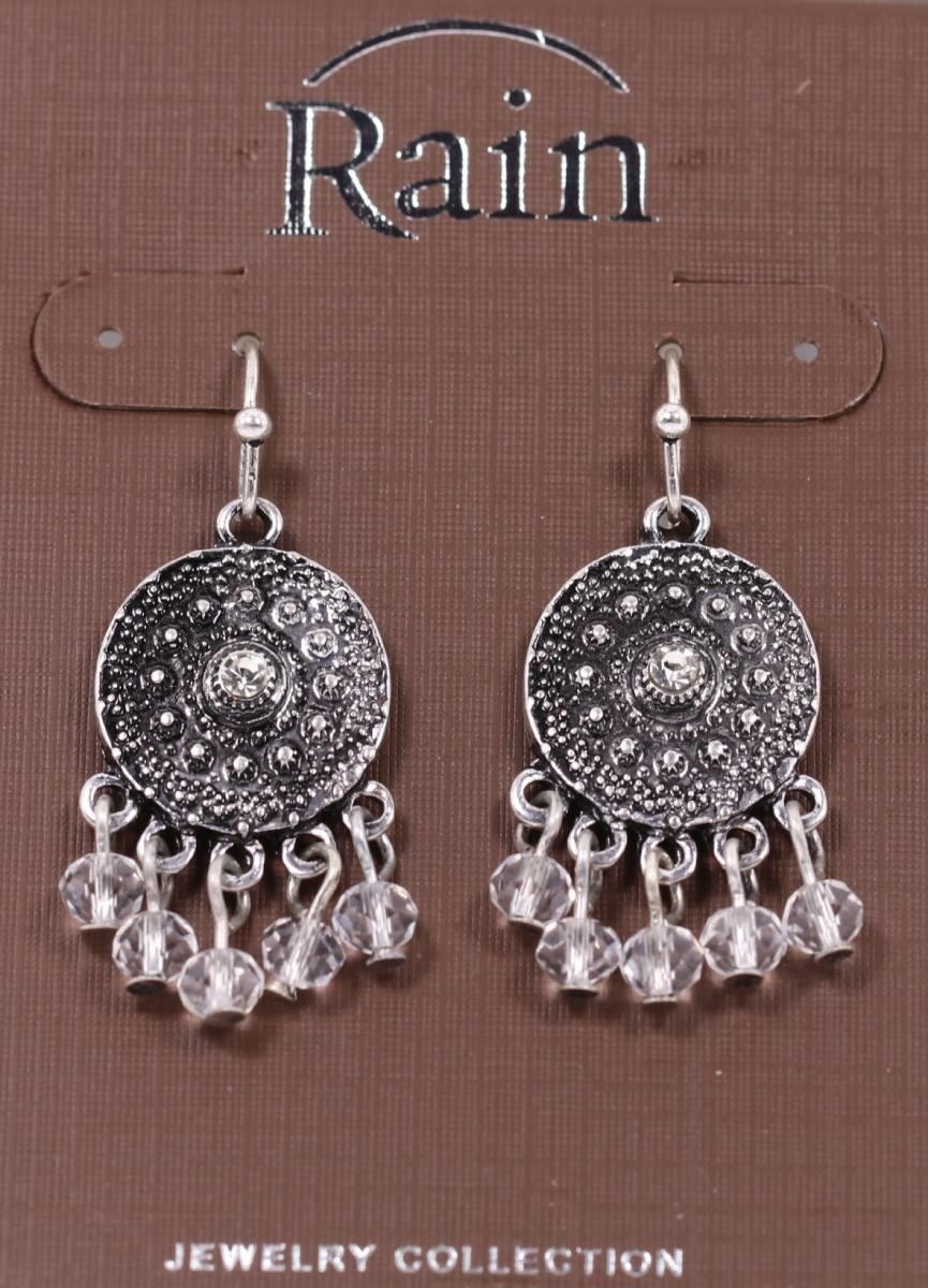 Fringed Medallion Earrings