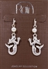 Rain Jewelry tails up mermaid earrings textured silver metal 1/12""