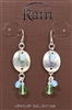 Rain Jewelry silver metal disc bead drop earrings 1/5/8""