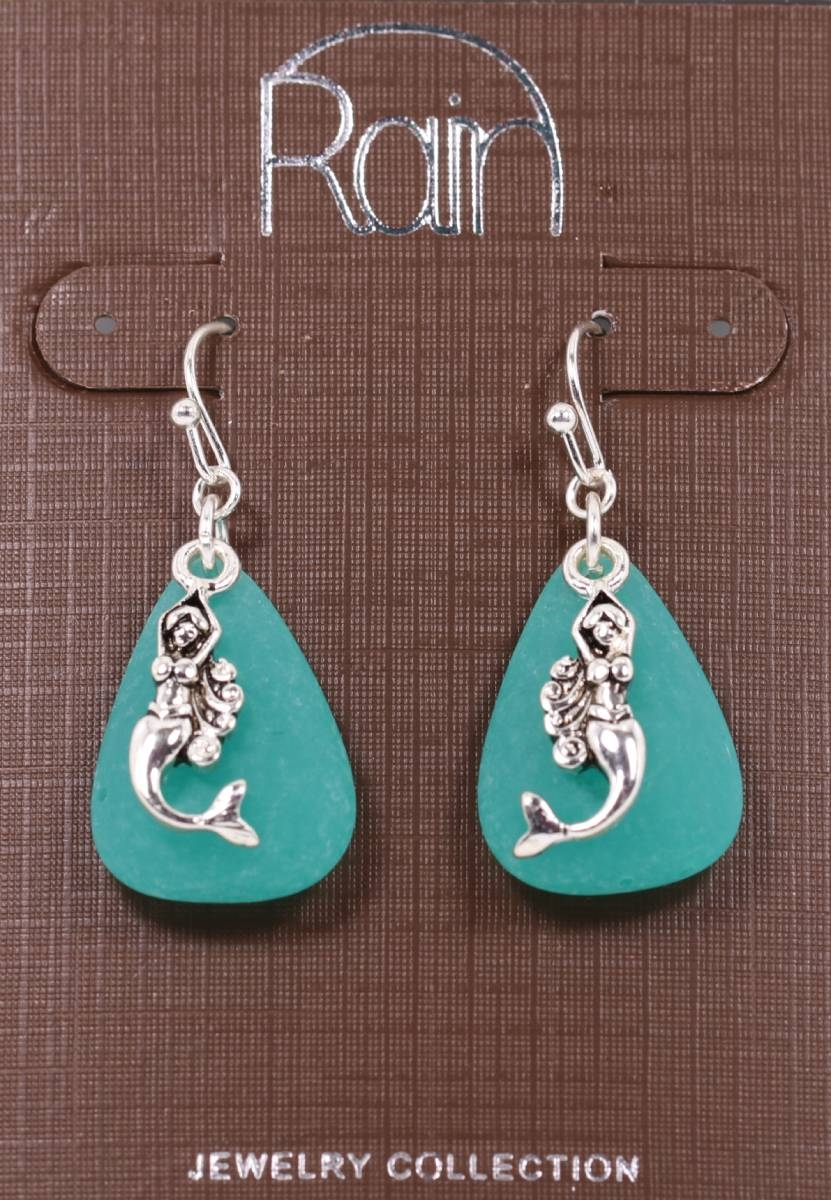 Dangling Mermaid Earrings