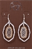 Rain Jewelry two-tone open oval filigree drop earrings 1-5/8""